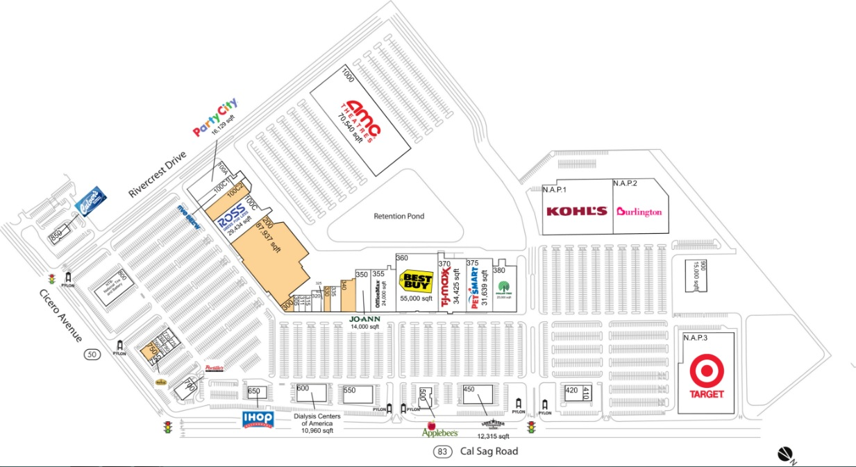 store directory and map of rivercrest shopping center. rivercrest shopping center  store list hours (location