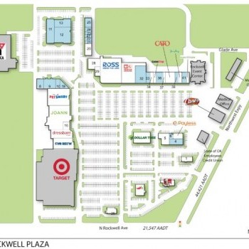 Plan of mall Rockwell Plaza