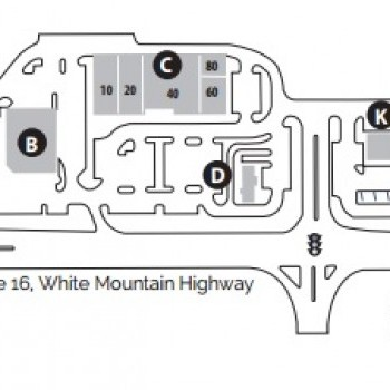 Plan of mall Settlers' Crossing