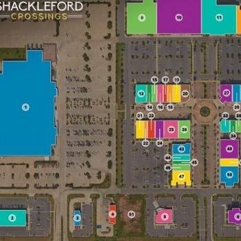 Plan of mall Shackleford Crossings