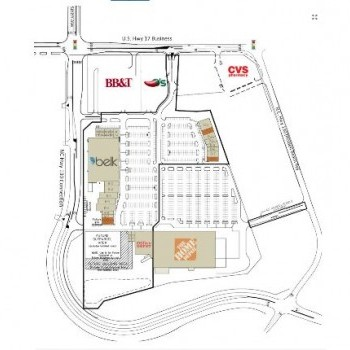 Plan of mall Shallotte Crossing