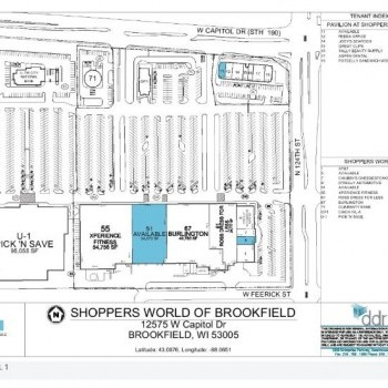 Plan of mall Shoppers World Of Brookfield
