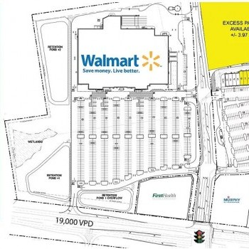 Plan of mall Shoppes at Raeford