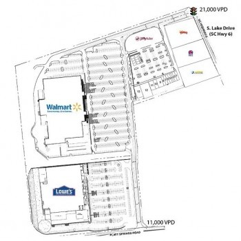 Plan of mall Shoppes at White Knoll