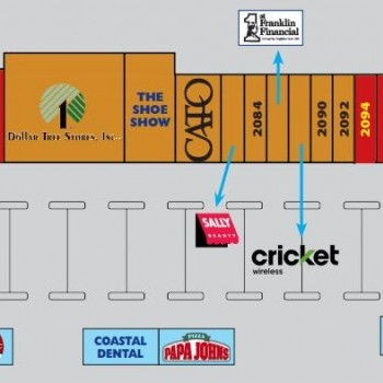 Plan of mall Shoppes Of Walterboro