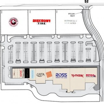 Plan of mall Silver Lake Village