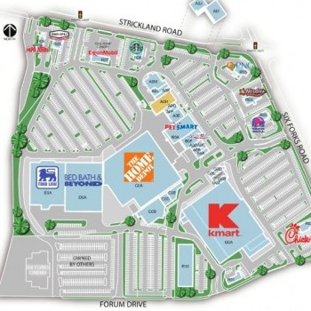 Plan of mall Six Forks Station Shopping Center
