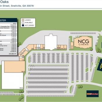 Plan of mall Snellville Oaks