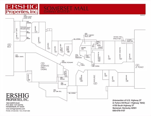 Somerset Mall - store list, hours, (location: Somerset ...