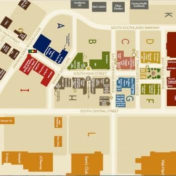 Plan of mall Southlands Shopping Center
