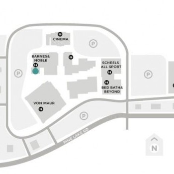 Plan of mall Southpointe Pavilions Shopping Center
