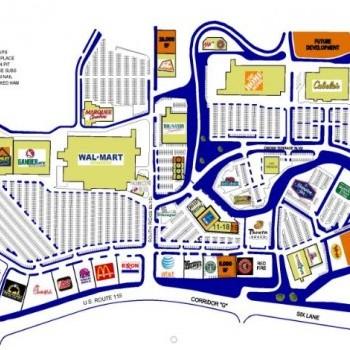 Plan of mall Southridge Center