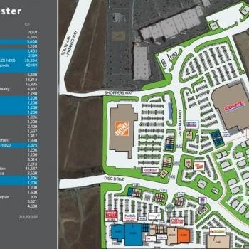 Plan of mall Sparks Galleria Shopping Center