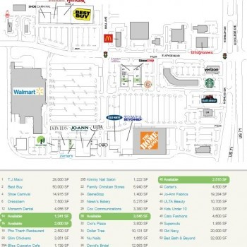 Plan of mall Spring Creek Centre