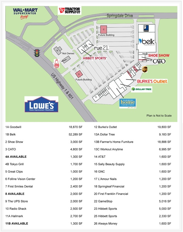 Springdale Plaza - store list, hours, (location: Camden, South ... on