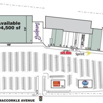 Plan of mall St. Albans Shopping Center