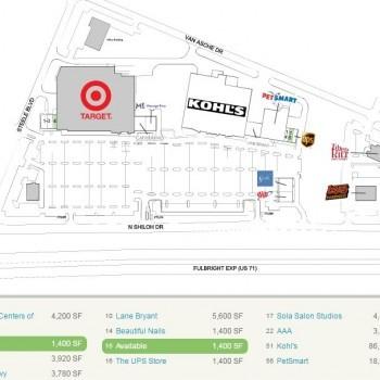 Plan of mall Steele Crossing