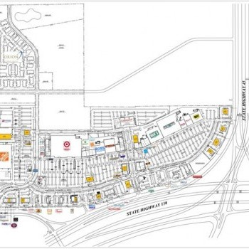 Plan of mall Stone Hill Town Center