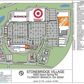 Plan of mall Stonebridge Village