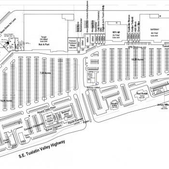 Plan of mall Sunset Esplanade