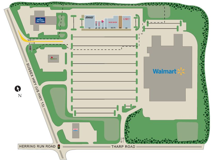 Walmart Supercenter In Sussex Plaza Shopping Center Store Location