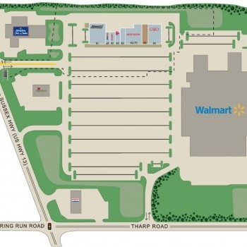 Plan of mall Sussex Plaza Shopping Center