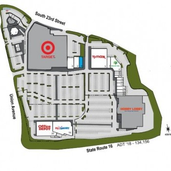 Plan of mall Tacoma Central