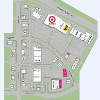 Plan of mall Tanasbourne Town Center