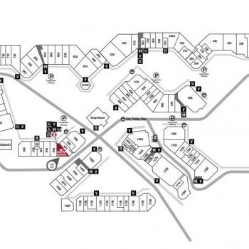 Plan of mall Tanger Outlet Center - Sevierville