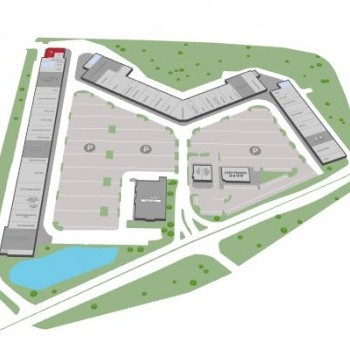 Plan of mall Tanger Outlet Center - Tilton