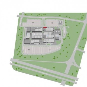 Plan of mall Tanger Outlets Southaven