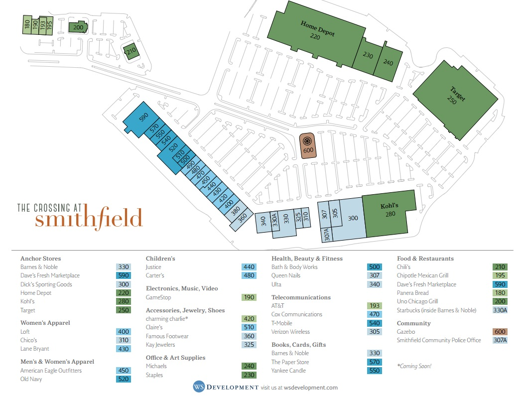 kohl's in the crossing at smithfield  store location hours  - kohl's in the crossing at smithfield  store location plan
