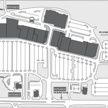 Plan of mall The Crossings