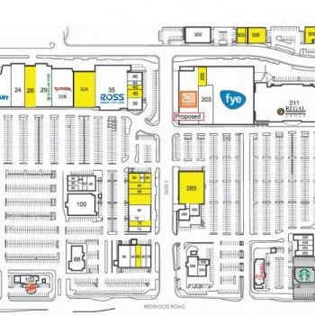 Plan of mall The Crossroads at Taylorsville