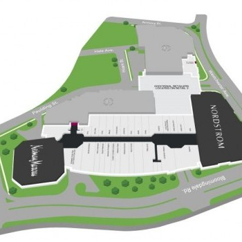 Plan of mall The District at Westchester