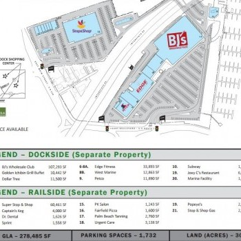 Plan of mall The Dock Shopping Center