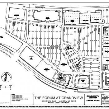 Plan of mall The Forum at Grandview