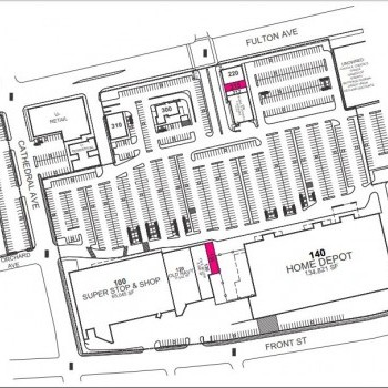 Plan of mall The Hub Shopping Center