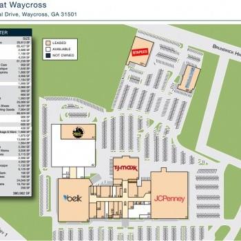 Plan of mall The Mall at Waycross