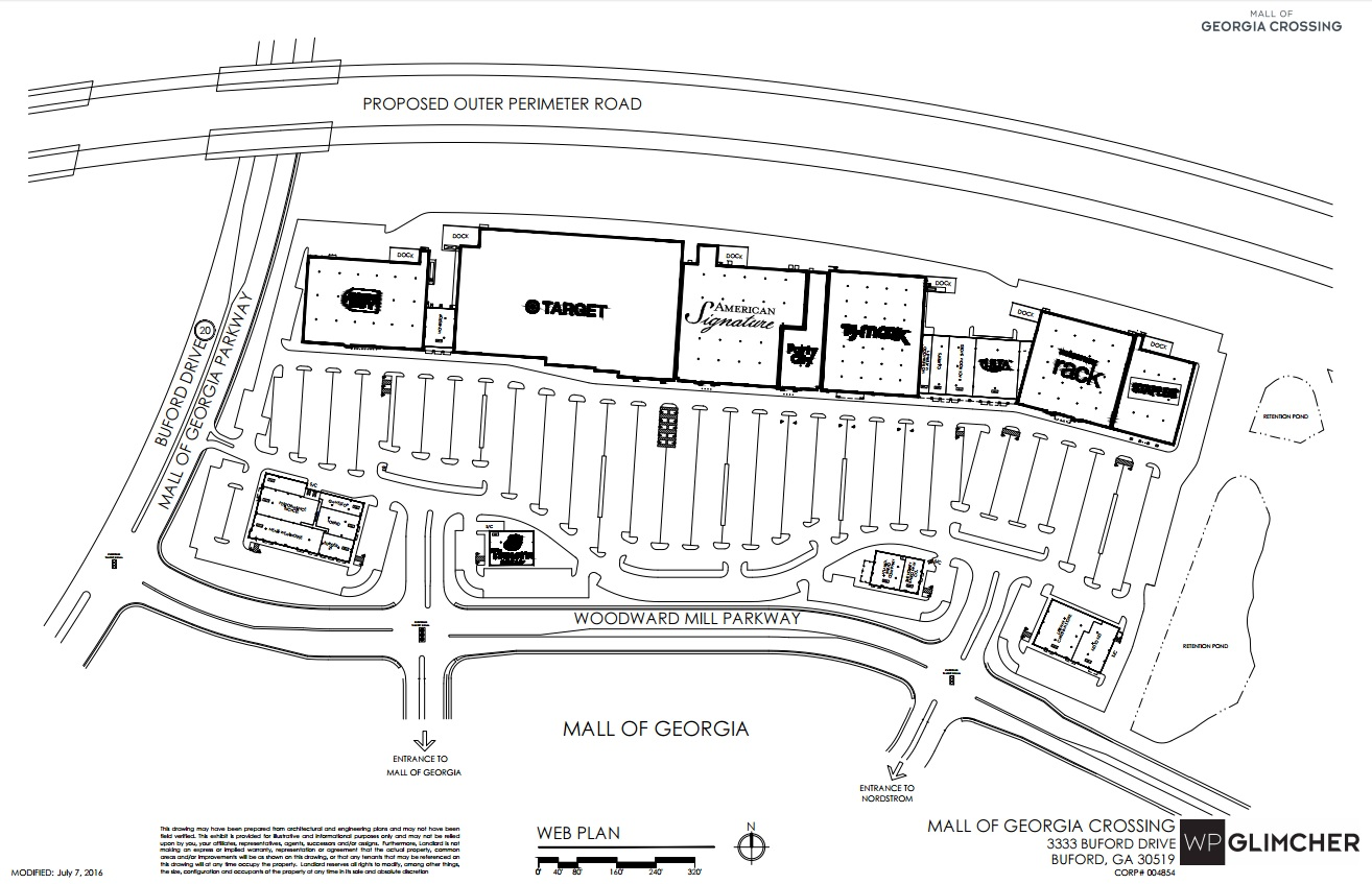 Map Of Georgia Mall.The Mall Of Georgia Crossing Store List Hours Location Buford