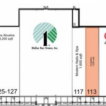 Plan of mall The Marketplace at Booneville