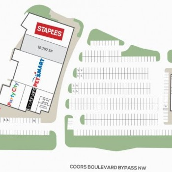 Plan of mall The Plaza at Cottonwood