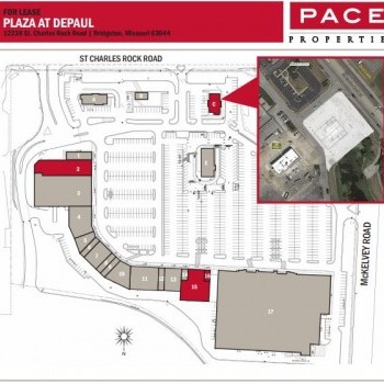 Plan of mall The Plaza At DePaul