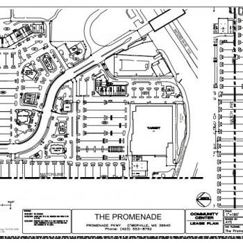 Plan of mall The Promenade