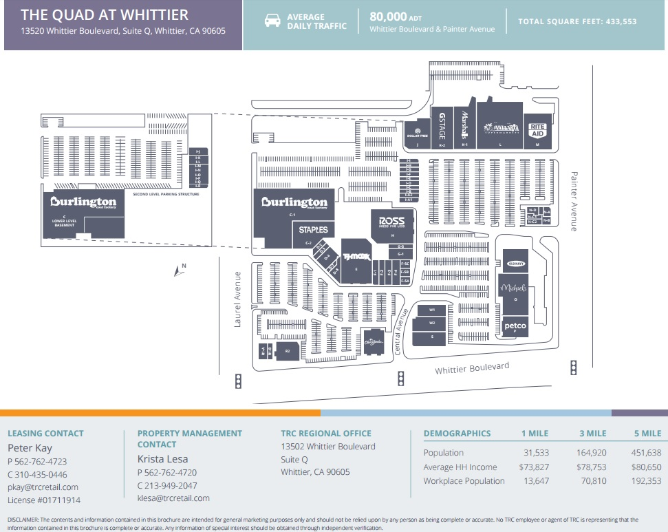 The Quad At Whittier Store List Hours Location