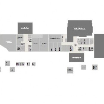 Plan of mall The Shoppes at Gateway