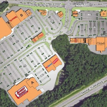 Plan of mall The Shops at Biddeford Crossing