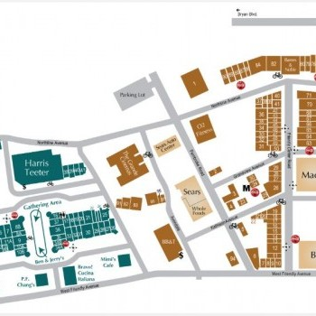 Plan of mall The Shops At Friendly Center
