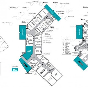 Plan of mall The Shops at South Town