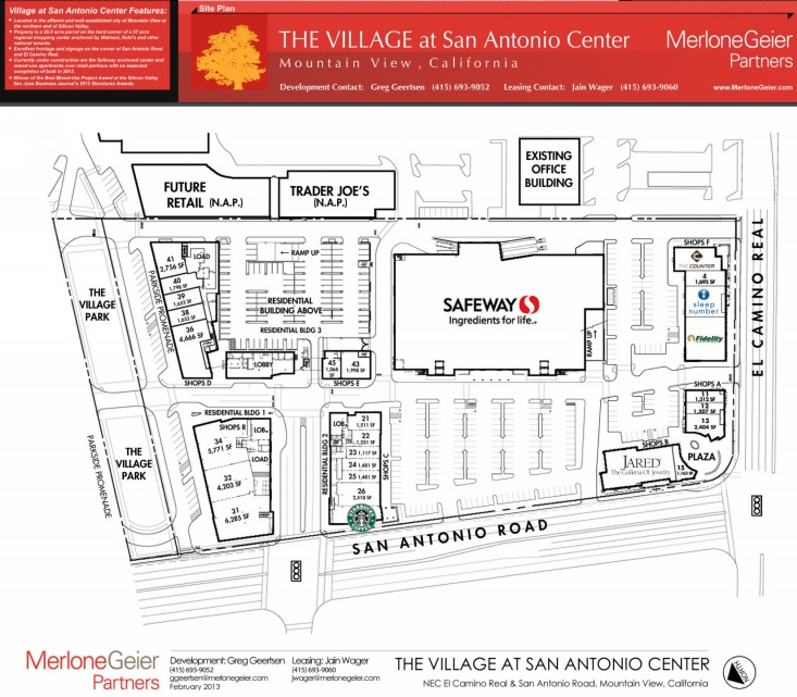 The Village at San Antonio Center store list hours location
